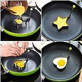 TX® Fried Egg Rings Mold, Pezzi Set Antiaderente per bistecchiera, per Uovo al tegamino Pancake Maker con Handle-Egg Forma Padella per Cucinare (Star Mold)