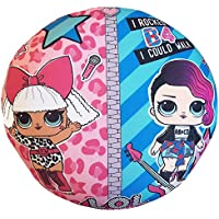 L.O.L. Sorpresa! Cojín Reversible 2 en 1 de LOL Confeti para muñecas Rocker Diva Fresh Fancy Super Suave Almohada para niñas