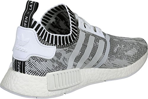 adidas NMD R1 Primeknit White White Black 42