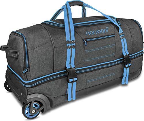 normani Reisetasche mit Rollen und großem Stauraum - mit Trolley-Funktion Farbe Blue Größe 120 Liter