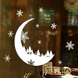 FORH Wandsticker Weihnachtsdekoration Fototapete Moderne Wanddeko Wandtapete Wand Dekoration Aufkleber Fenster Aufkleber Home Decor Weihnachten Schnee Schlafzimmer Wandaufkleber(25 * 35cm)