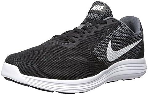 Nike Revolution, Chaussures de Running Entrainement homme, Bleu (Dark Grey/White Black), 43 EU (8.5 UK)