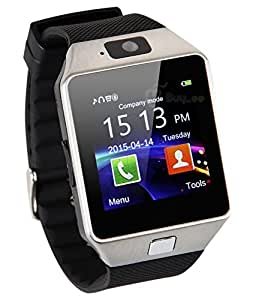 ESTAR Bluetooth Smartwatch with SIM Card Support | Micro SD card Support | Facebook | Whatsapp | Activity Tracker | Fitness Band | Music | Camera with Video Recording | Better Display | Loud Speaker | Microphone | Touch Screen | Multi-Language Compatible with Micromax Canvas Fire 4G Plus and All Other Smartphones - SILVER Micromax Canvas Selfie 2 Q340