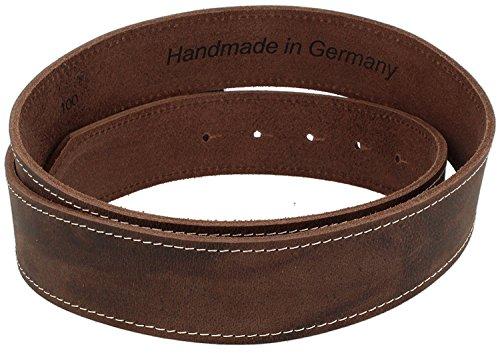 Trachtengürtel Original Trachtenkönig Unisex Bayern Wappen 100% Echtleder Handmade in Germany Kürzbar Braun (85, Schließe: Altsilber, Leder: Dunkelbraun (Vollrindleder)) - 3