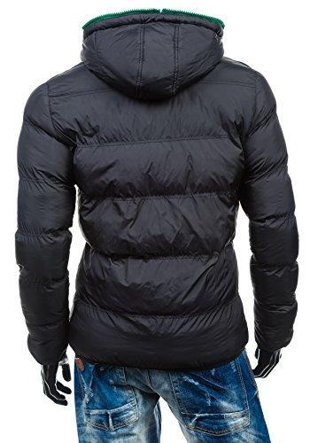 BOLF Herren Übergangsjacke Sweatjacke Jacke Herrenjacke MIX Schwarz_8851