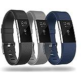 Sun studio Fitbit Charge 2 Armband,Weiches Silikon Ersatz Fitbit Armband Sports Ersetzerband Fitness Verstellbares Armband für Fitbit Charge 2