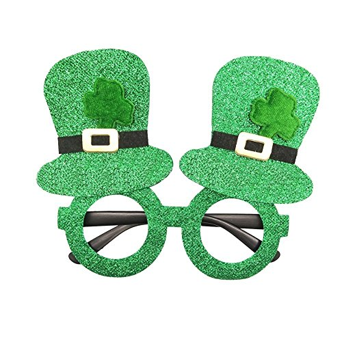 Xiton 2ST St. Patricks Day Party-Glitter Kunststoff Shamrock Gläser Irish Day Zubehör Cloer ()