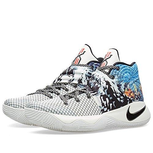 Nike Kyrie 2, Chaussures de Sport-Basketball Homme, 41 EU Gris / Noir / Bleu (Multi-Color / Black-Sail)