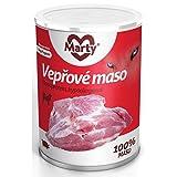 Marty Monoprotein 100% Fleisch Nassfutter für Hunde - Schweinefleisch, 4er Pack (4 x 400 g)