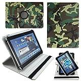 Camouflage Soldier Tablet Tasche Schutz Etui Hülle für 10 Zoll Jay-Tech / CANOX Tablet PC 101