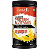 MuscleXP Complete Protein & Vitamin Shake Mix With 25 Multivitamins - 500g, Mango (With Whey Protein)