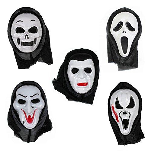 een Fancy Ball Party Kleid Cosplay Horror Scream Ghost Face Skull Maske (Halloween Ghost Face)