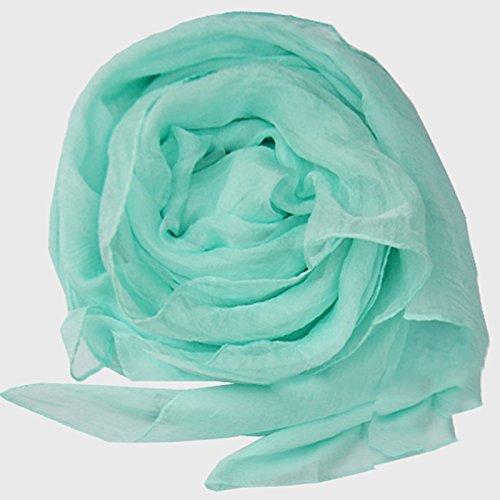 SunJin Koreanisch 175 * 145 cm reines Meer Strand Handtuch Schal Schal Schal Mädchen Sommer Sonne Dekoration, Pfefferminz Grün