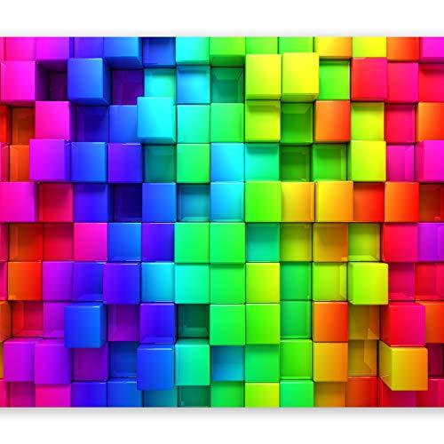 fototapete kinderzimmer jungen murando - Fototapete Kubus 350x256 cm - Vlies Tapete - Moderne Wanddeko - Design Tapete - Wandtapete - Wand Dekoration - 3D f-A-0350-a-a