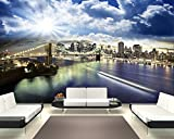 Selbstklebende Fototapete - New York - 230x150 cm - Tapete mit Kleber – Wandtapete – Poster – Dekoration – Wandbild – Wandposter – Wand – Fotofolie – Bild – Wandbilder - Wanddeko