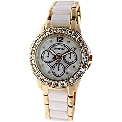 10FW830Z New Water Resist White Dial Women Ceramic Water Resistant Bracelet Watch