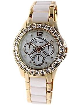 10fw830z Neue Wasser widerstehen weiß Zifferblatt Frauen Keramik wasserabweisend Armband Armbanduhr