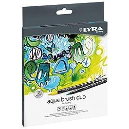 LYRA Aqua Brush Duo Pennello Pittore, pennarelli, Colori Assortiti