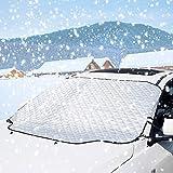 Surenhap Auto Frontscheibenabdeckung, Auto Scheibe Abdeckung Magnet Windschutzscheibe Anti Frost, EIS Staub Sonnenstrahl, Wasserdicht für Winter+Sommer, 183 * 116cm