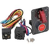 BQLZR DC12V Interruptor de encendido + patr¨®n rojo Motor de arranque Panel de botones con rel¨¦s para el coche de carreras