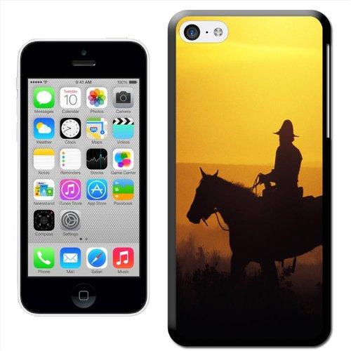 Fancy A Snuggle 'Cowboys bei Sonnenuntergang' Hard Case Clip On Back Cover für Apple iPhone 5C Cowboy On Horse