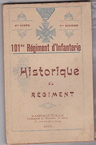 4e Corps - 7e Division - 101e Régiment d'Infanterie - Historique de Régiment