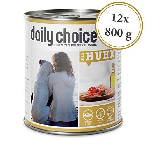 daily choice | 12 x 800 g | Nassfutter für Hunde | getreidefrei | Mit Huhn | 70{1a4b19f593f70b6682fc88c5b59b65b5873ae4a0760203ea9702e46e8d0cdf57} Frischfleisch- und Innereienanteil Optimale Verträglichkeit