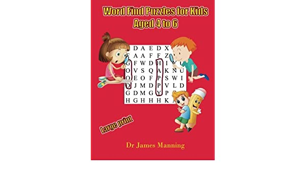 Buy Word Find Puzzles for Kids Aged 4 to 6: A Children's