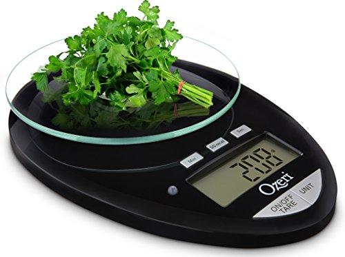 Ozeri Pro II báscula de cocina Digital, 1g a 12 lbs/5,5 kg capacidad,