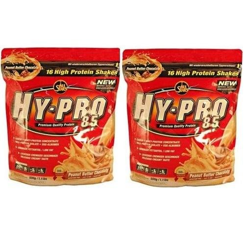 All Stars Hy-Pro 85 Protein Whey+ EGG Deluxe ( 2 x 500g = 1000g ), Blueberry-Vanille - Egg Protein Vanille