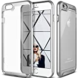 Caseology iPhone 6 Plus Hülle, [Skyfall Serie] Transparente Klare Schlanke Schutzhülle Kratzfest mit Schutzrahmen [Silber - Silver] für Apple iPhone 6 Plus (2014) & iPhone 6S Plus (2015)