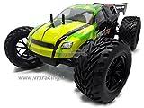 Truggy XXX Sword Off Road 1/10Brushless Motor Elektro Radio 2.4GHz RTR 4WD mit Doppel Rahmen aus Metall und omocinetici von Serie VRX Karosserie schwarz und grün