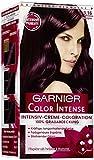 Garnier Color Intense, 3.16 Aubergine, Dauerhafte Intensive Creme Coloration für permanente Haarfarbe (mit Perlmutt und Traubenkernöl) 3er Pack (3 x 1 Stück)