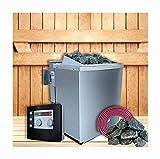 SudoreWell Karibu Saunaofen 9 kW mit moderner Außensteuerung Plus Zubehör