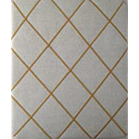 Notice Boards/Memo Boards/40 x 48 cm, Laura Ashley avena lino, colore: oro con bordo elasticizzato, tavole Bulletin Message Boards