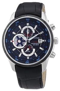 Reloj Festina F6821/2 de cuarzo para hombre con correa de piel, color negro de Festina