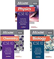 All In One ICSE Physics,Chemistry & Biology Class 10 2020-21(Set of 3 Bo