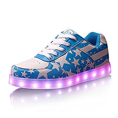 DoGeek Unisex041-dg-yez-rbw, Sneaker uomo multicolore colori assortiti M Blu