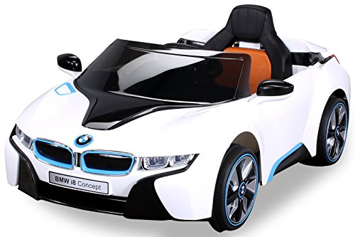 NEU Kinder Elektroauto Lizenzierter Original BMW I8 mit 2 x 45 Watt Motor Elektro Kinderauto Kinderfahrzeug weiß