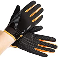 12189f65c687f0 Stonges Sommer Männer und Frauen Ice Silk Dünne Fitnesstraining Voll Finger  Handschuhe Bergsteigen Outdoor Rutschfeste Sport
