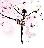 Set Diamond Painting Bild Handarbeit Basteln Mädchen Tänzerin Ballerina 25x25cm