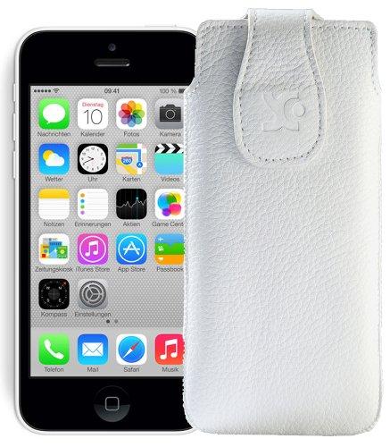Suncase Étui pour iPhone 5C Vollnarbig-Weiss