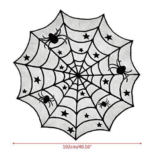 KINTRADE Halloween Black Spider Web Spitze Tischdecke Abdeckung Party Tischdekoration
