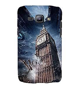 BIGBEN ALIEN INVASION PIC. 3D Hard Polycarbonate Designer Back Case Cover for Samsung Galaxy J1 :: Samsung Galaxy J1 J100F (2015)