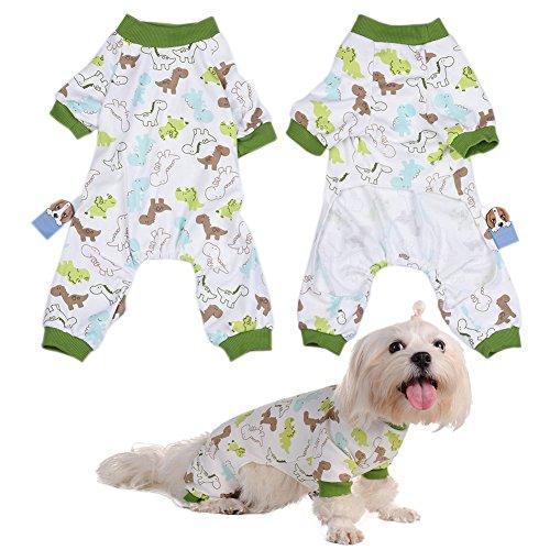 Per Hunde/Katze Pyjamas mit Niedlich Dinosaurier Muster und Four Feet Design, Weich Alle Jahreszeiten Haustier Schlafanzug Jacken für Kleine und Mittelgroße Hunde - XS/S/M/L/XL (Kätzchen Auch Niedliche)
