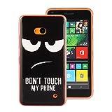 Zouzt Nokia Lumia 640 Fall, Transparent Druckmuster Schutzhülle Handy TPU Schutzhülle Muster Shell für Nokia Lumia 640 (Nicht berühren Sie Mein Handy)
