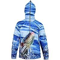 Sharplace Camisa con Capucha Sudadera Protección Solar UPF 50 + Ultra-Ligero Pesca Ropa