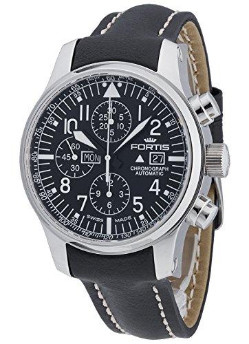 Fortis Hombre Reloj de pulsera F de 43Planeador Cronógrafo Fecha Día de la semana analógico automático 701.20.11L.01