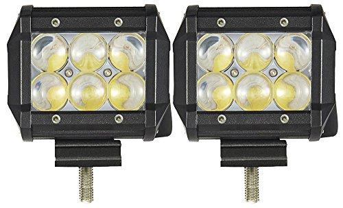 Eyourlife LKW Arbeitsscheinwerfer Rückfahrscheinwerfer 18W 4D Fischauge Hyper LED Auto Beleuchtung 2 Stück (Spotlicht) -