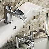 iBathUK Luxury Waterfall Basin Sink Mixer Tap Bath Filler Hand Held Shower Head Set TP3451
